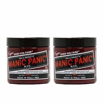 Manic Panic Semi-Permanent Hair Color Cream - Rock 'N' Roll Red 4oz