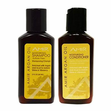 Amir Argan Oil Moisturizing Sulfate-free Shampoo & Conditioner 2oz