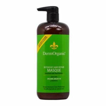 Dermorganic Intensive Hair Repair Masque with Argan Oil for Unisex, 33.8 Ounce