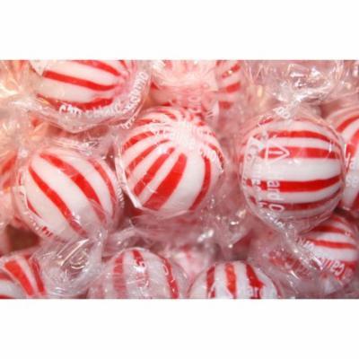 BAYSIDE CANDY PEPPERMINT JUMBO MINT BALLS HARD CANDY, 5LBS