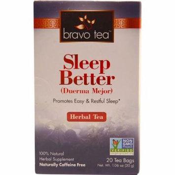 Bravo Tea Sleep Better Herbal Tea -- 20 Tea Bags pack of 6