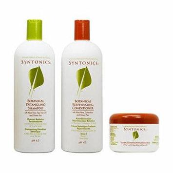Syntonics Botanical Detangling Shampoo & Rejuvenating Conditioner 32oz + Herbal Conditioning Hairdress 7oz