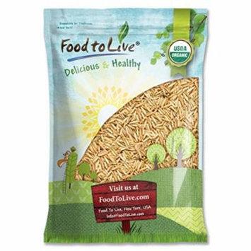 Certified Organic Raw Brown Basmati Rice (Non-GMO, Origin USA, Bulk, Food to Live) (16 pounds)