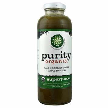 Purity Organic Superjuice Kale Coconut Water Apple Spinach -- 14 fl oz pack of 3