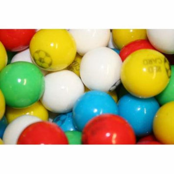 BAYSIDE CANDY GUMBALLS SOCCER BUBBLE GUM 25mm or 1 inch, 2LBS