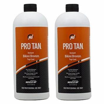 Pro Tan Instant Bikini Bronze Top Coat Ultra Dark Mahogany Bronzing Mousse 33.8oz