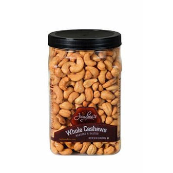 Jaybee's Extra Large Whole Cashews - Roasted And Salted - Great for Gift Giving or As Everyday Snack - Reusable Container - Certified Kosher (32 Ounces)