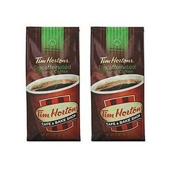 Tim Hortons 100% Arabica Medium Roast, Decaffeinated, Ground Coffee, 12 Ounce - (2 Pack)