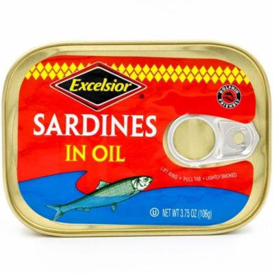 Excelsior Sardines in Oil, 3.75 oz