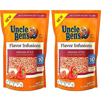 UNCLE BENS Flavor Infusions Spanish Style Dry Rice, 12.9 Ounces (Pack of 2)