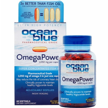 Ocean Blue Professional OmegaPower Softgels, 60 Count [Standard Packaging]