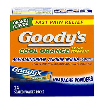 2 Pack Goody's Cool Orange Extra Strength Headache Powder 24 Sealed Packets Each