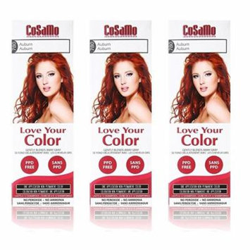 CoSaMo - Love Your Color Non-Permanent Hair Color 780 Auburn - 3 oz. (Pack of 3) + Curad Bandages 8 Ct.