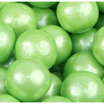 GUMBALLS SHIMMER LIME GREEN 25mm or 1 inch (285 count), 5LBS