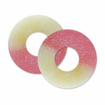 BAYSIDE CANDY GUMMY STRAWBERRY BANANA RING, 5LBS