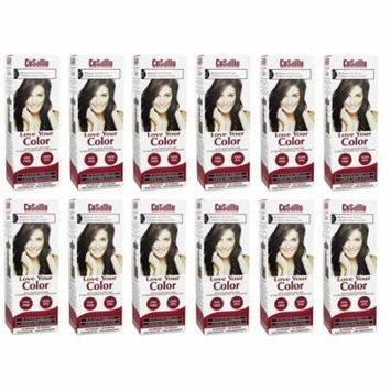 CoSaMo - Love Your Color Non-Permanent Hair Color 777 Medium Ash Brown - 3 Oz (Pack of 12) + LA Cross Manicure 74858