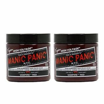 Manic Panic Semi-Permanent Hair Color Cream - Vampire Red 4oz