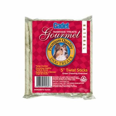 Ims Trading 10261 Gourmet Dog Treats, Rawhide Twist, 5-In., 12-Pk.