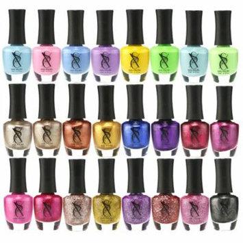 SXC 24 Colors Nail Polish Set of (Metallic, Neon, Pastel, Glitter, Pink & Gold)