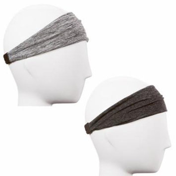 Hipsy Xflex Adjustable & Stretchy Sports Headbands for Women Gift Pack (Heather Charcoal & Grey Xflex Band 2pk)