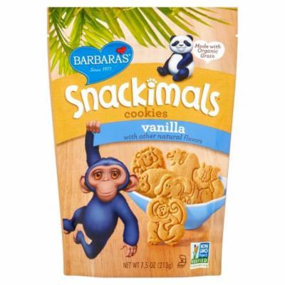 Barbaras Snackimals Vanilla Cookies, 7.5 oz, 6 pack