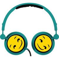 Alta Industries Smirk Emoji - Swivel Adjustable Headband Stereo On-Ear Headphones W/In-Line Mic