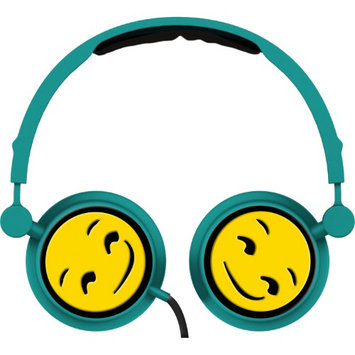 Alta Industries Smirk Emoji - Swivel Adjustable Headband Stereo On-Ear Headphones W/In-Line Mic