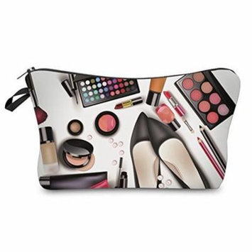StylesILove Cosmetic World Collection Pouch Travel Case Makeup Bag (White 2)