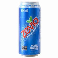 Zevia All Natural Cola Zero Calorie Soda 16 oz Cans - Pack of 12