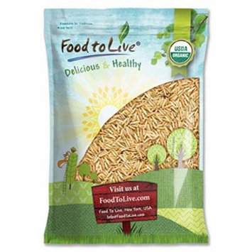 Certified Organic Raw Brown Basmati Rice (Non-GMO, Origin USA, Bulk, Food to Live) (10 Pounds)