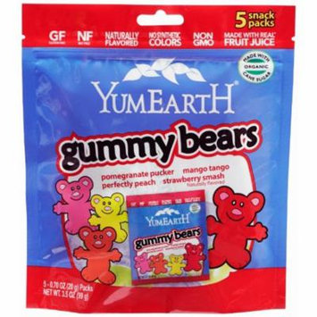 Yummy Earth Organic Gummy Bears Snack Packs, 5 (.7 oz) individual packs