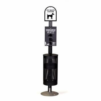 Dog Waste Stations - Everything Included - Free 400 dog waste bags and 50 can liners