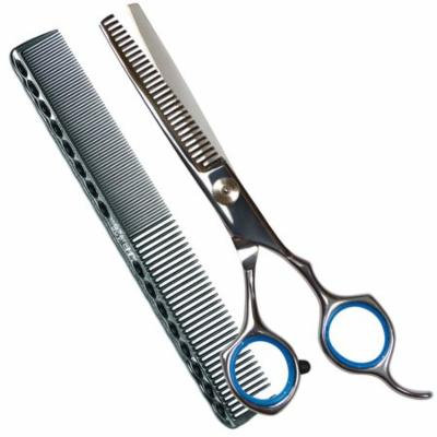 Professional Barber Hair Thinning scissors/ Shears, 6 Inch Stainless Steel Barber Handmade Hair-cutting With a Comb