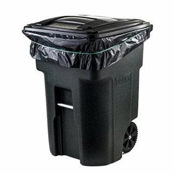 Toughbag 95 Gal Trash bags, Black, 2 Mil, 61x68, 25 Garbage Bags Per Case