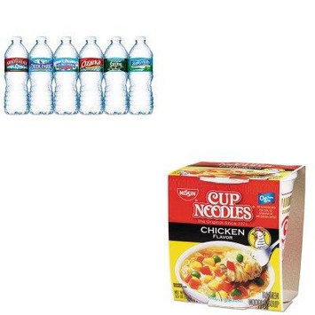 KITNLE101243NSF827961 - Value Kit - Nissin Cup Noodles, Chicken (NSF827961) and Nestle Bottled Spring Water (NLE101243)