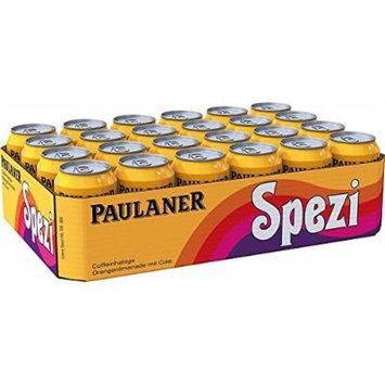 Set of 24 Paulaner Spezi Soda ( 0.33 l - 11.16 flOz ) Tin Can (no alcohol)