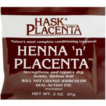4 Pack - Hask Henna 'n' Placenta Conditioning Treatment, 2 oz