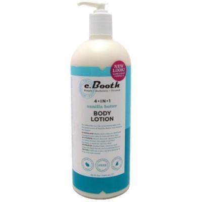 2 Pack - c. Booth 4-in1 Multi-Action Body Lotion, Vanilla Butter 32 oz