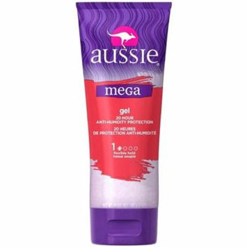 4 Pack - Aussie Mega Gel, 20 Hour Anti-Humidity Protection 7 oz