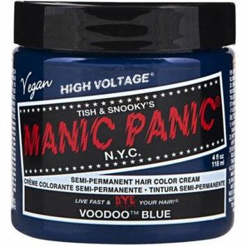 Manic Panic Semi-Permament Hair Color Creme, Voodoo Blue 4 oz