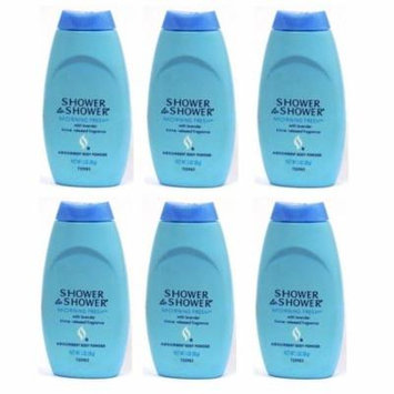 Shower To Shower Absorbent Body Powder Morning Fresh 1 Oz (6 Pack) + LA Cross Tweezers 71817