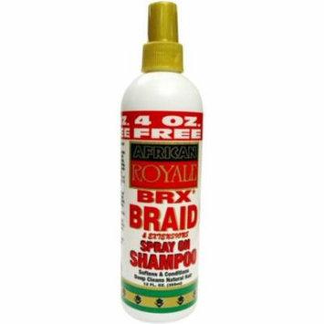 3 Pack - African Royale BRX Braid Spray on Shampoo, 12 oz