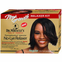 4 Pack - Dr. Miracle's New Growth Intensive No-Lye Relaxer Kit Regular, 1 ea