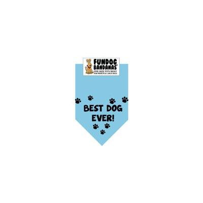 Fun Dog Bandana - Best Dog Ever - One Size Fits Most for Med to Lg Dogs, light blue pet scarf