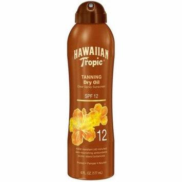 Hawaiian Tropic Tanning Dry Oil Clear Spray Sunscreen