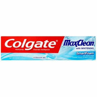 2 Pack - Colgate MaxClean SmartFoam with Whitening Toothpaste, Effervescent Mint 6 oz