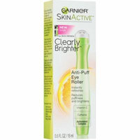 4 Pack - Garnier SkinActive Clearly Brighter Anti-Puff Eye Roller 0.5 oz