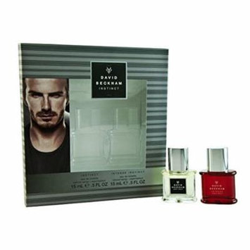 David Beckham INSTINCT - 2 Piece GIFT SET - Instinct EDT Natural Spray .5 Oz. + Intense Instinct EDT Natural Spray .5 Oz. = ($40.00 Value) GREAT FATHERS DAY GIFT + LA Cross Blemish Remover 74851