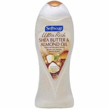 6 Pack - Softsoap Ultra Rich Shea Butter and Almond Oil Moisturizing Body Wash 15 oz