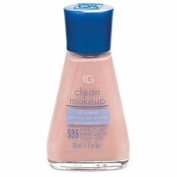 2 Pack - CoverGirl Clean Oil Control Liquid Makeup, Medium Light [535] 1 oz